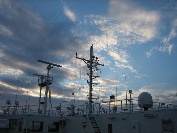 Himmel zwischen Santos und Vitoria