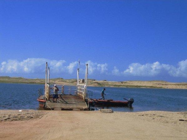 Faehre ueber ne Lagune