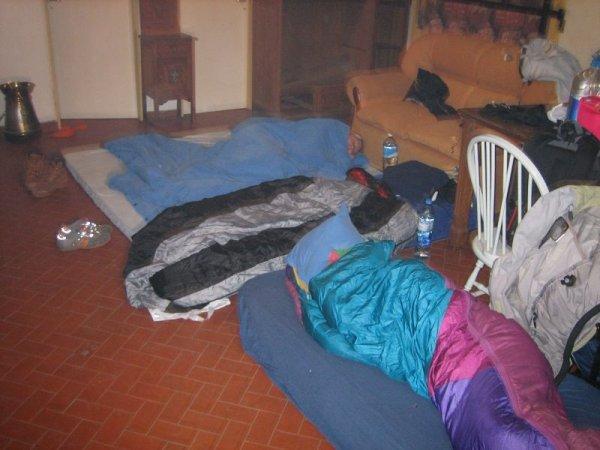 Lager in Norberts Quinta in Trenque Lauquen aufgeschlagen