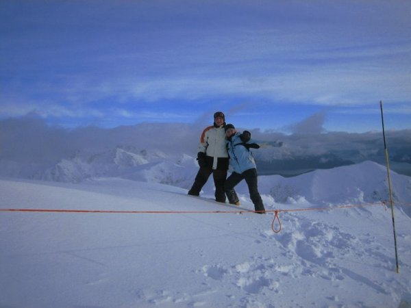 Das erste mal in den Anden skifahren, yeah!