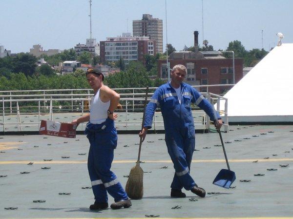 Die Rumaenen bei der Arbeit
